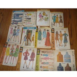 Vtg Sewing Patterns 60s Simplicity McCalls Dress